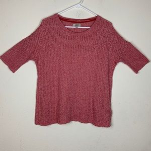 Zara Trafaluc- Red Knit Blouse size Medium